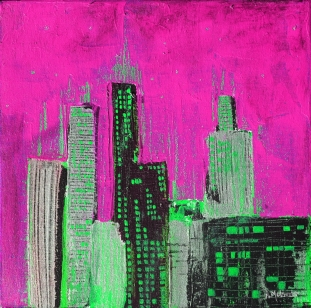rosa-grøn